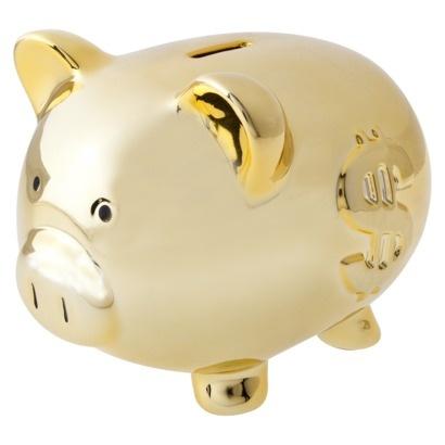 gold piggy bank.: Pig Banks, Gold Piggy, Ideas Piggy, Favourite Piggy, Piggy Banks, Penny, Piggy B Nks