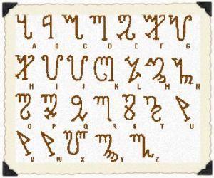 Omphalos: Alfabeto Tebano