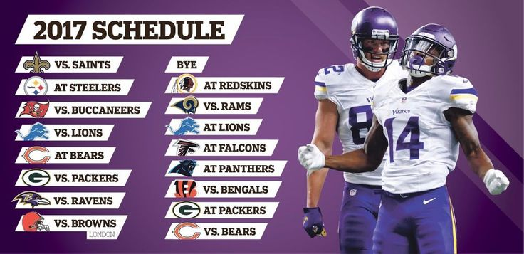 "2017-18 MINNESOTA VIKINGS FOOTBALL SCHEDULE SEASON FRIDGE MAGNET (LARGE 6.5""X4"") 