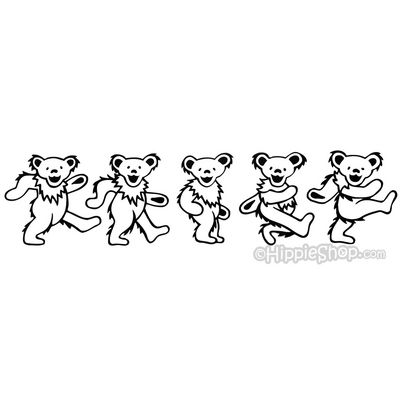 Grateful Dead Coloring Pages Grateful Dead Dancing Bears