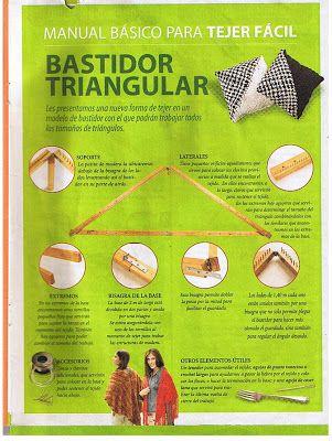 Angel Telar: Tecnica basica telar triangular  LINDOS TUTORIALES