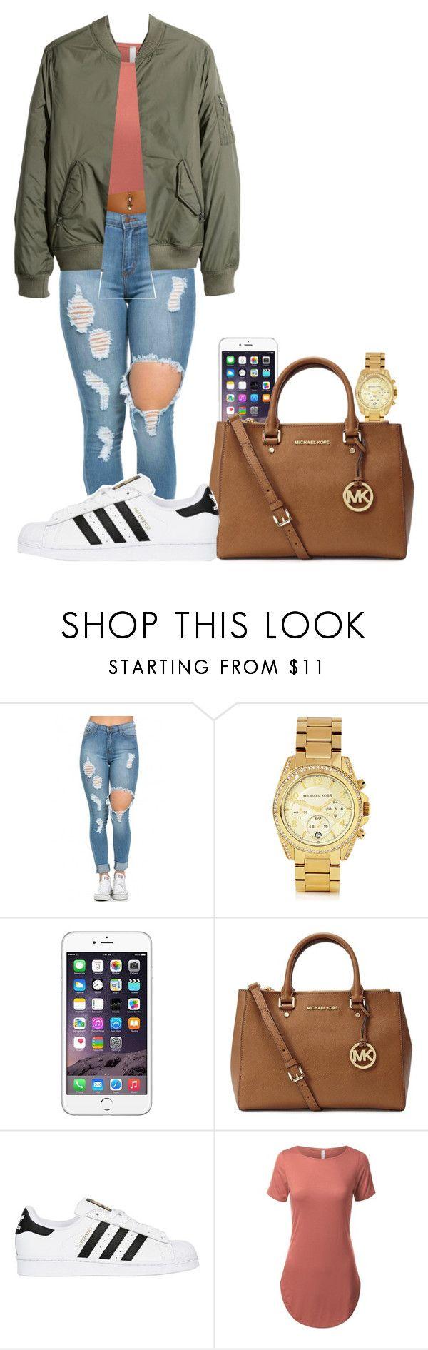 Adidas Superstars by bestdressed101 on Polyvore featuring H&M, adidas Originals and Michael Kors