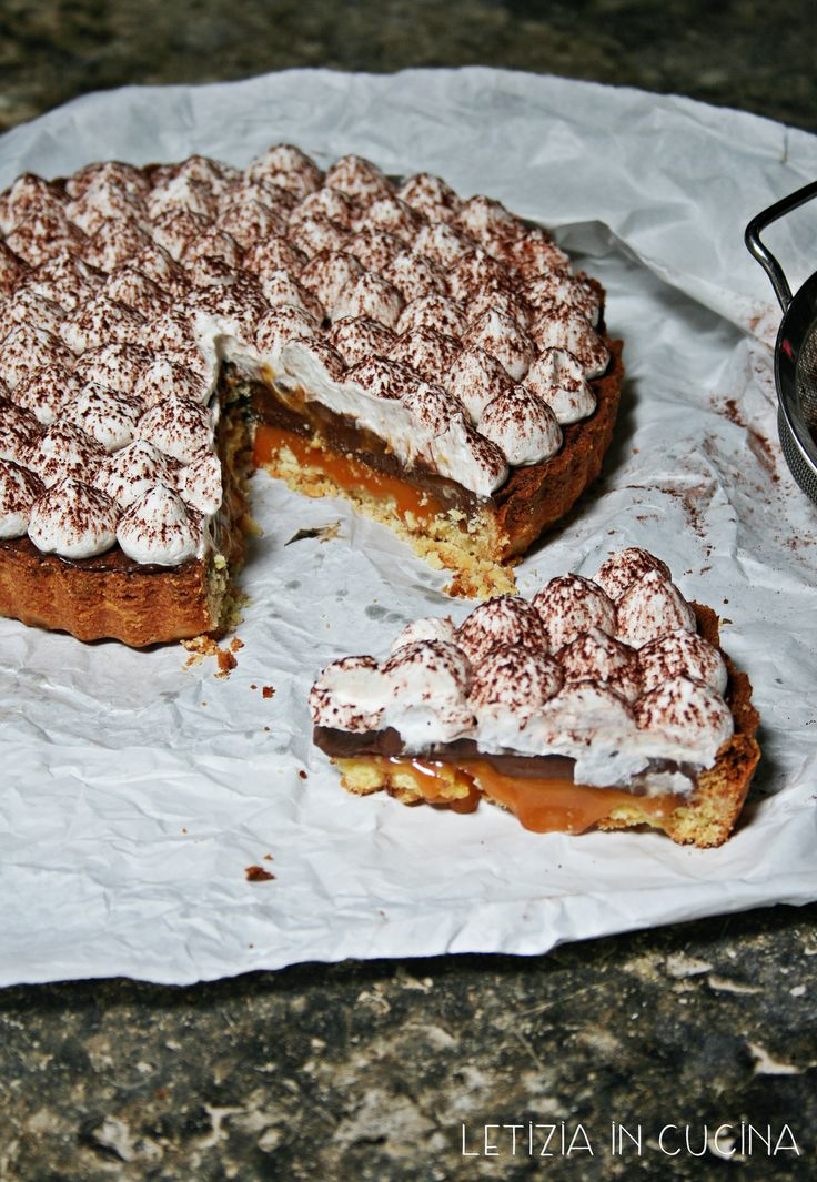 Cream Chocolate salted Caramel Tart
