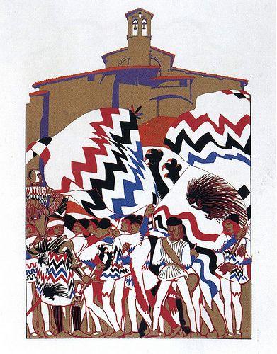 Contrada sovrana dell'Istrice - Siena - Duilio Cambellotti 1932 #TuscanyAgriturismoGiratola