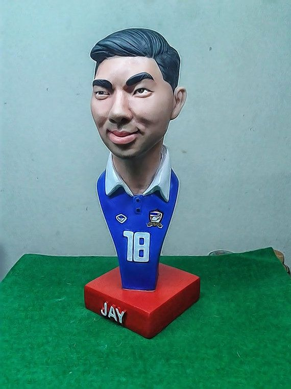 Chanathip.RESIN. Bust Statue.Caricature by BUDAMODEL on Etsy
