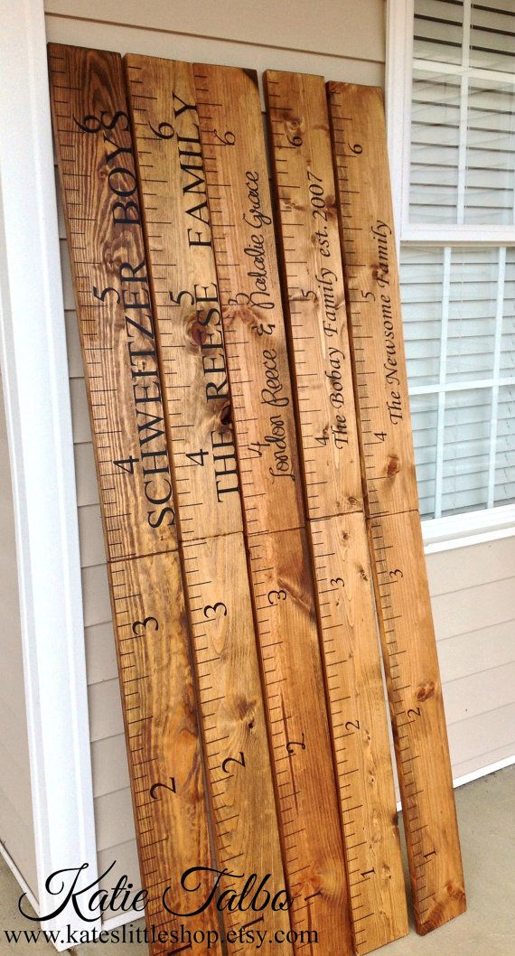 Giant Ruler. HAND PAINTED. Family Growth Chart. Children's Growth Chart. Children's Measuring
