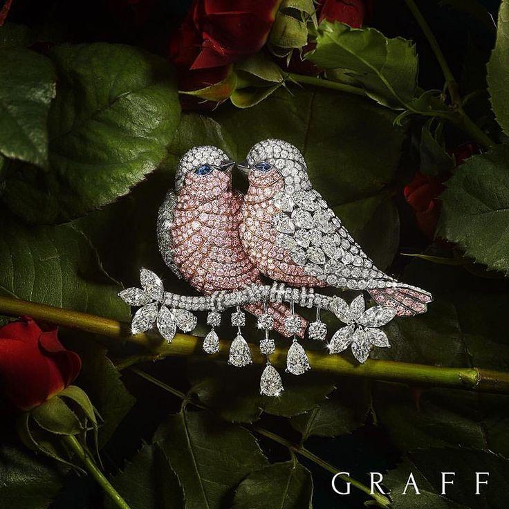 「That is so beautiful...lovebirds..!! Graff diamonds!!!! #dubai #diamond #diamonds #highjewelry #finejewels #instagood #instalike #instamood #instafollow…」