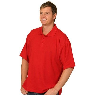 Pique Printed Polo Shirt Coloured (Unisex) Min 25 - 220 gsm poly/ cotton pique knit. #CheapPoloShirts #PoloShirts #PromotionalProducts #PromotionalPoloShirts