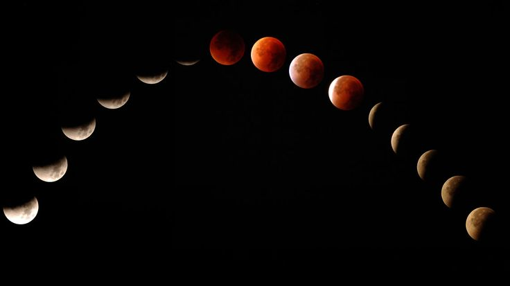 Bilderserie Mondfinsternis