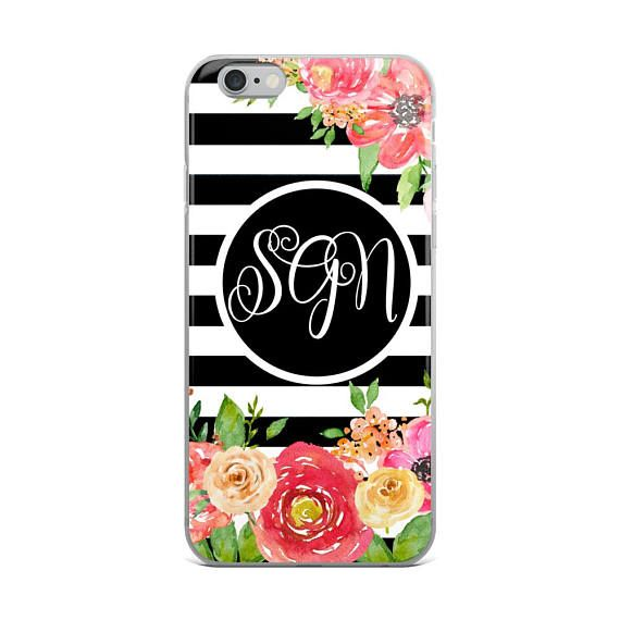 Personalized iPhone Case iPhone Case Floral iPhone Case