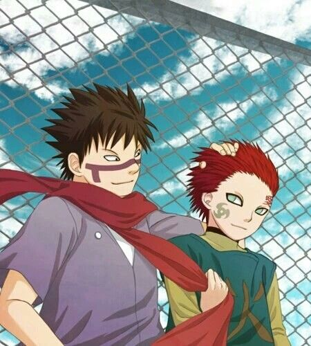 Kankuro, Gaara, brothers, Yura Yura, cool, cute; Naruto ... Gaara And Kankuro Brothers