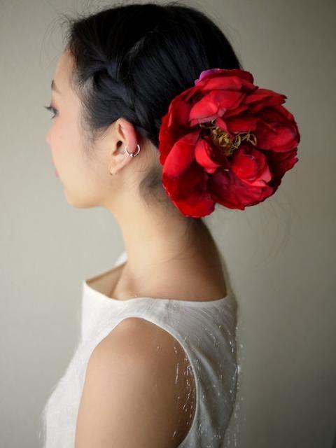 芍薬の髪飾り