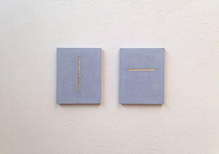 Marco La Rosa, S.t., concret, iron, gold, 2014, at A+B, Brescia.