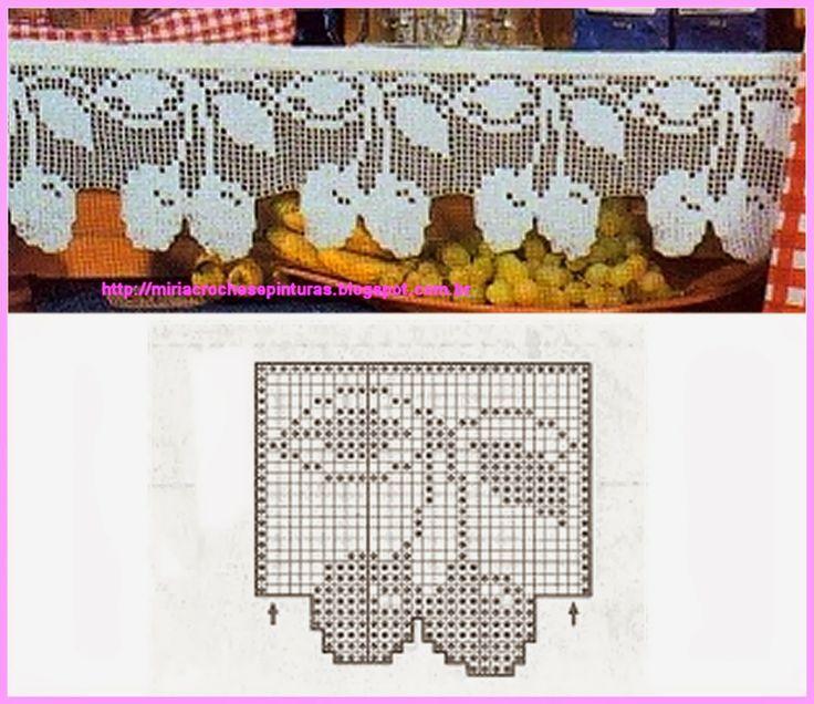 ATELIÊ ARTE DE BORDAR: Panos de Copa com barrado de crochê
