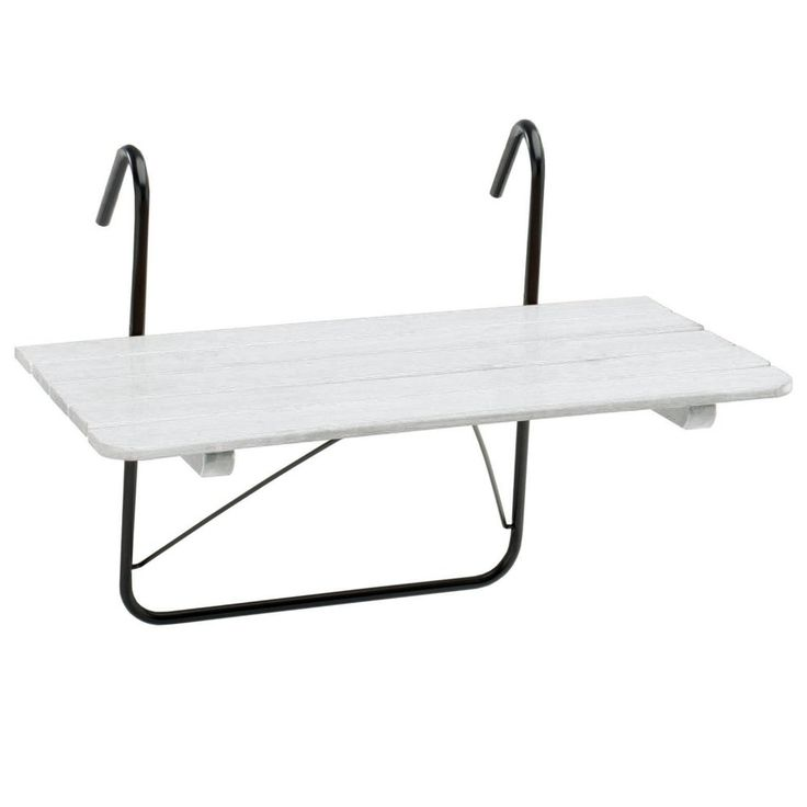 Balkongbord 50×80 cm vitlaserat - Kila Möbler. 490 kr