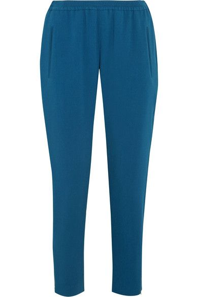 Stella McCartney - Tamara Stretch-crepe Track Pants - Azure - IT