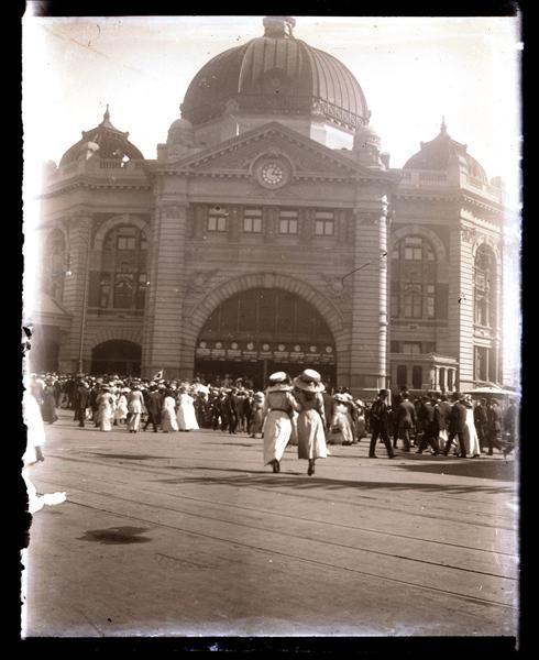 Culture Victoria - Flinders Street Railway Station, south-west corner of Swanston and Flinders Streets, Melbourne