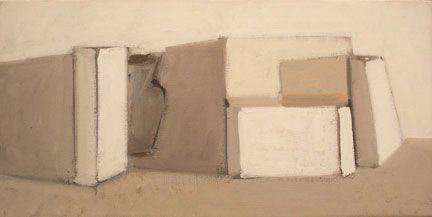 Susannah Phillips White Still Life 2004 oil on linen, 12 x 24 inches. Courtesy…