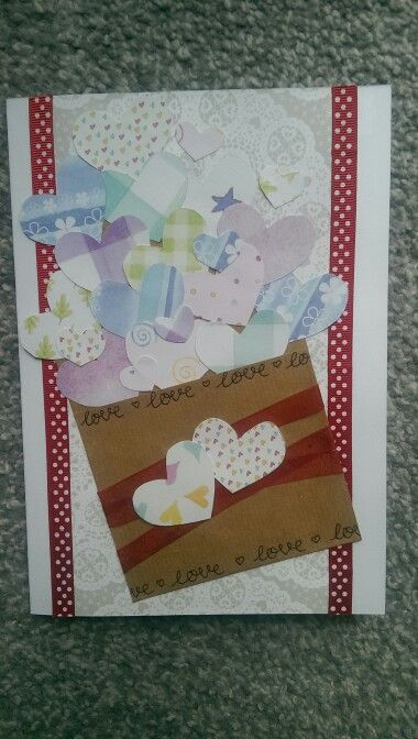 Engagement card love hearts