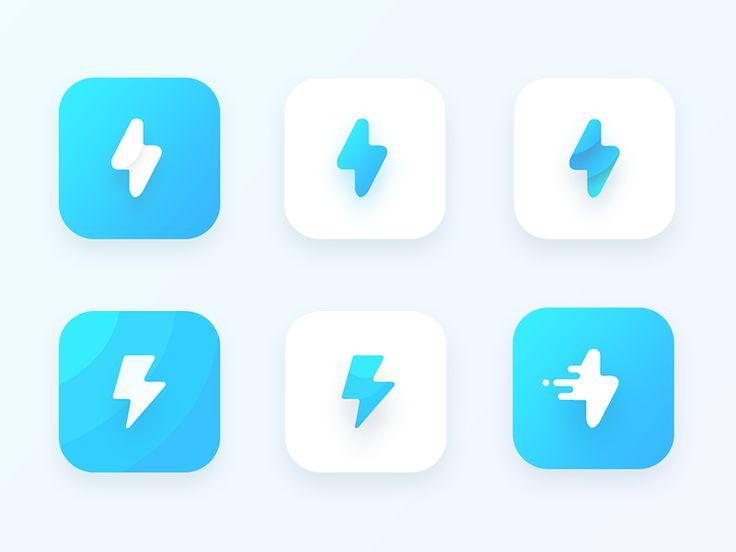 Bolt App Icon explorations by Prakhar Neel Sharma