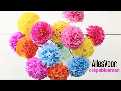 Zelf een boeket vol gekleurde papieren bloemen maken?