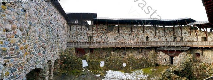 Raaseporin linna - Tammisaari Raasepori linna kivilinna muuri kivi kiviä muuraus historiallinen nähtävyys piha sisäpiha