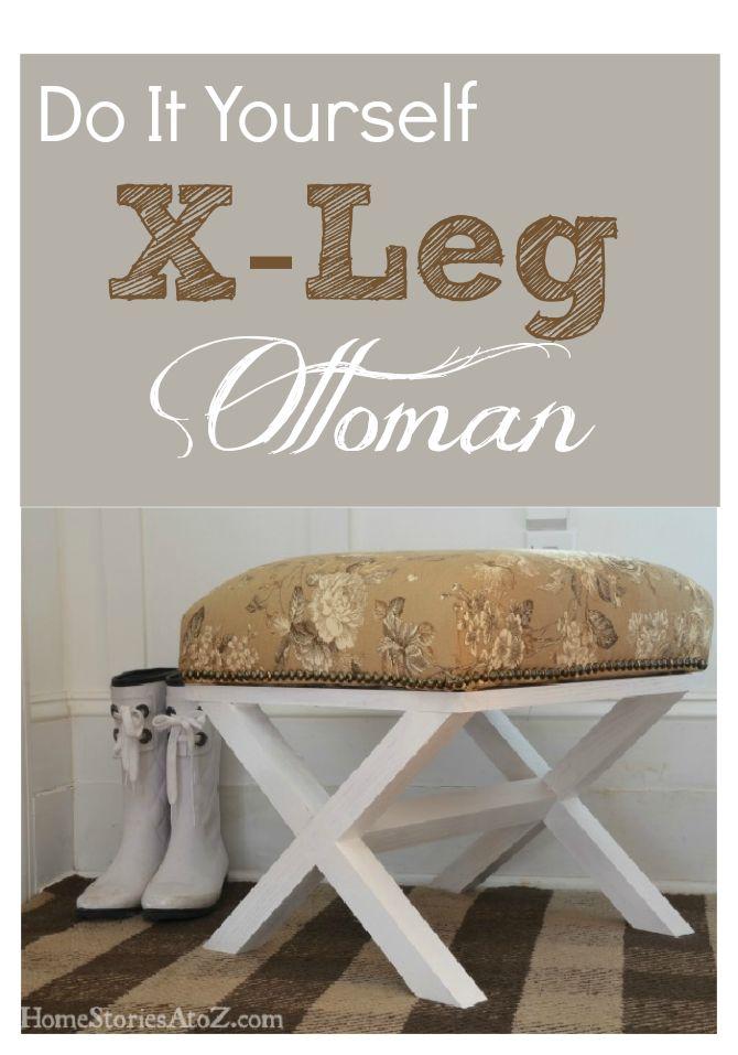 Sweet handmade x leg ottoman