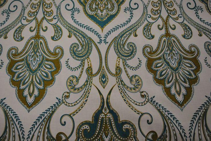 Persian Paisley Beach Forest 100% cotton - 137cm