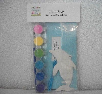 DIY Craft Kit Paint Your Own Dolphin Ornament Party Favors