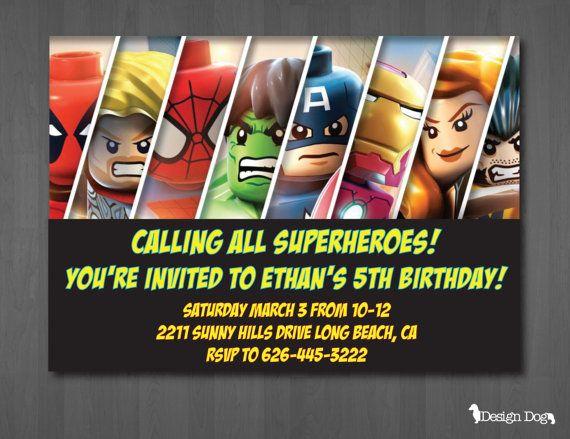 Superhero Birthday Invitation by TheDesignDog on Etsy, $9.99