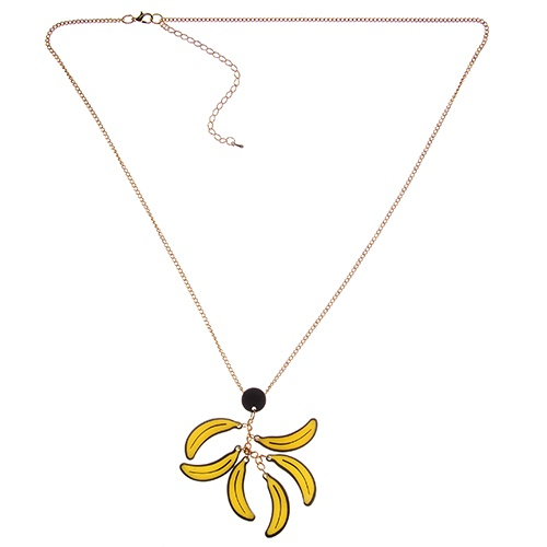 Bunch O Banana's necklace. Look at me and tell me if I don't have Brazil in every curve of my body. Carmen Miranda