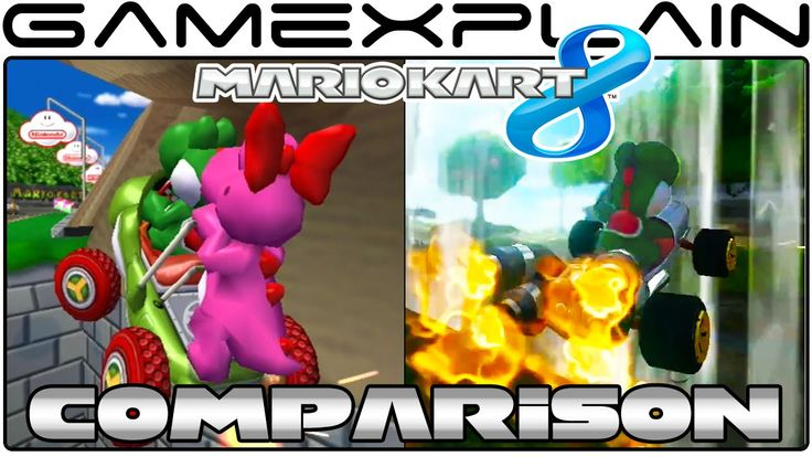Mario Kart 8: Yoshi Circuit Head-to-Head Comparison (Wii U vs. GCN)