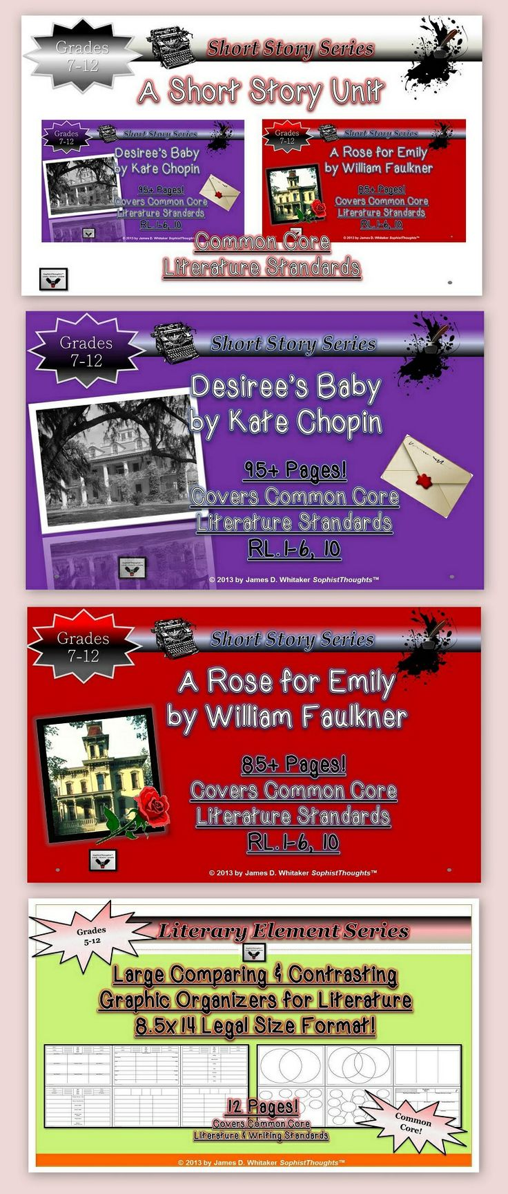 59 best the short story images on pinterest short stories story short story unit study desirees baby a rose for emily common core buycottarizona