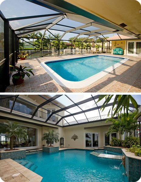 Attached Swimming Pool : Pool enclosure attached to house for the home pinterest