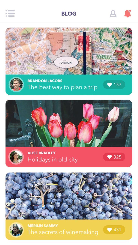 Blog app feed