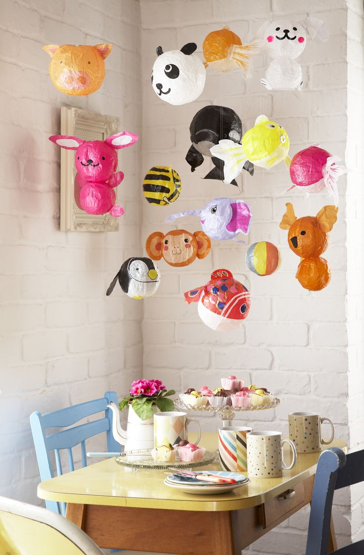 Japanese paper balloons: Ideas, Japanese Paper, Craft, Paper Balloons, Paper Animal, Kids Room, Party Idea, Kids Party