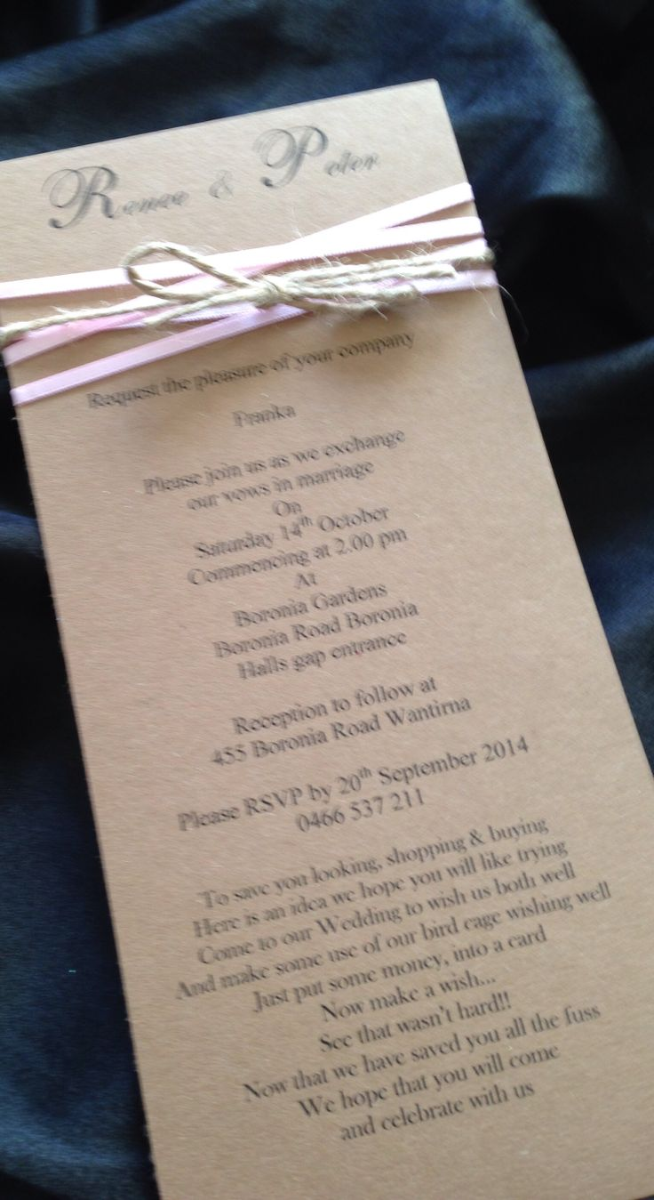 Gorgeous DL size invitation x