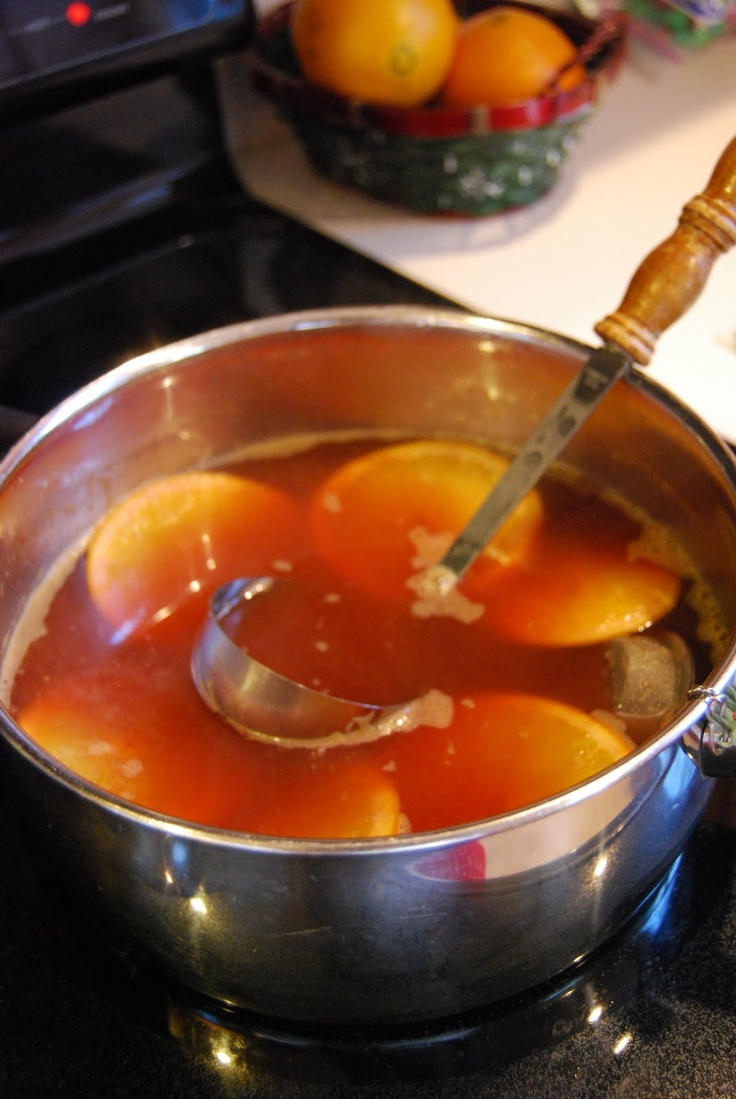 Hot Apple Cider: made 1/2 gallon Apple Juice (only use 100% juice)  1/3 cup red hots candy