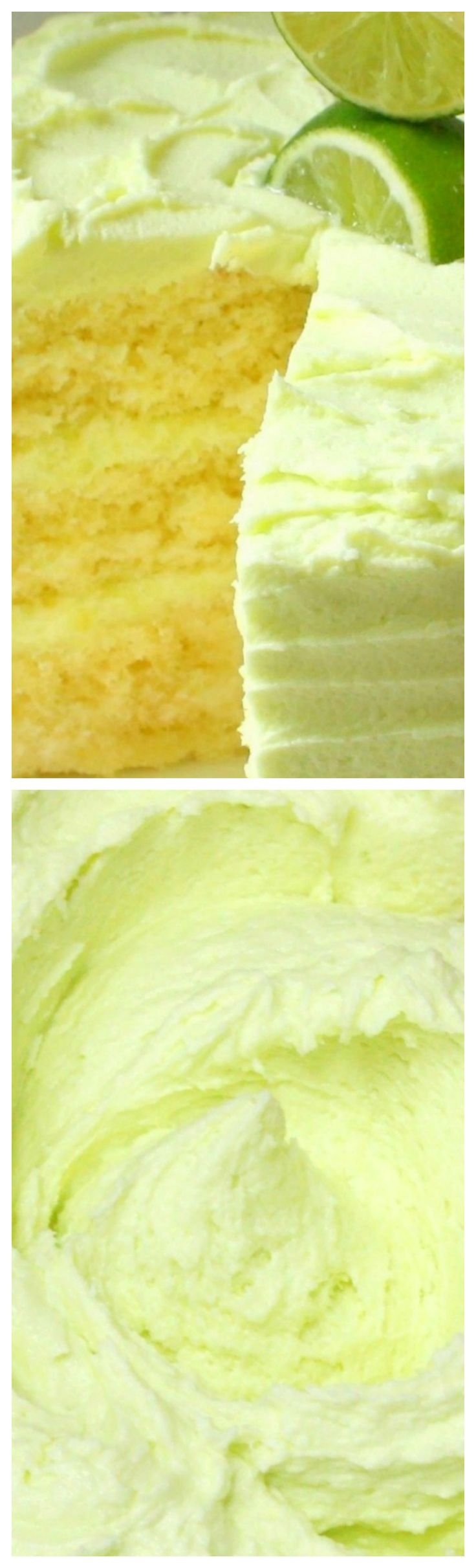 Delicious Margarita Cake with Tequila Lime Buttercream ~ Frozen Margarita Mix is our secret ingredient for the cake's wonderful tanginess, which is perfectly balanced with our Tequila Lime filling and frosting! The layers are moist and soft, and this recipe is suitable for cupcakes also!