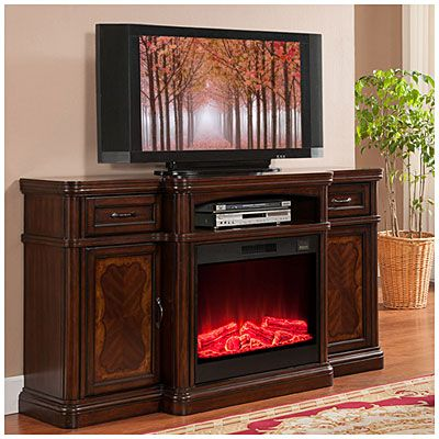 "72"" Cherry Media Electric Fireplace at Big Lots. #BigLots ..."