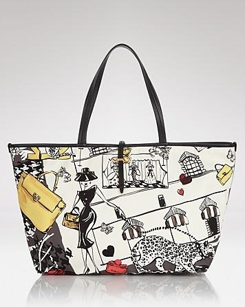 2eeeb95871 Salvatore Ferragamo Tote - Printed Bice - Handbags - Women - Ferragamo -  Bloomingdale s