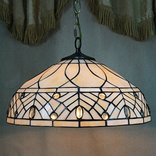 12-inch Vintage Pastoral Stained Glass Tiffany Ceiling Lamp Pendant Lamp Living Room Light Hallway Lamp