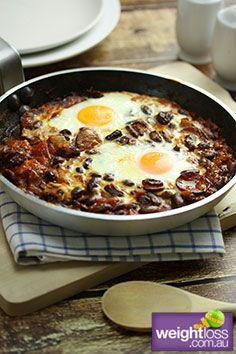 Spanish Eggs . #HealthyRecipes #DietRecipes #WeightLossRecipes weightloss.com.au