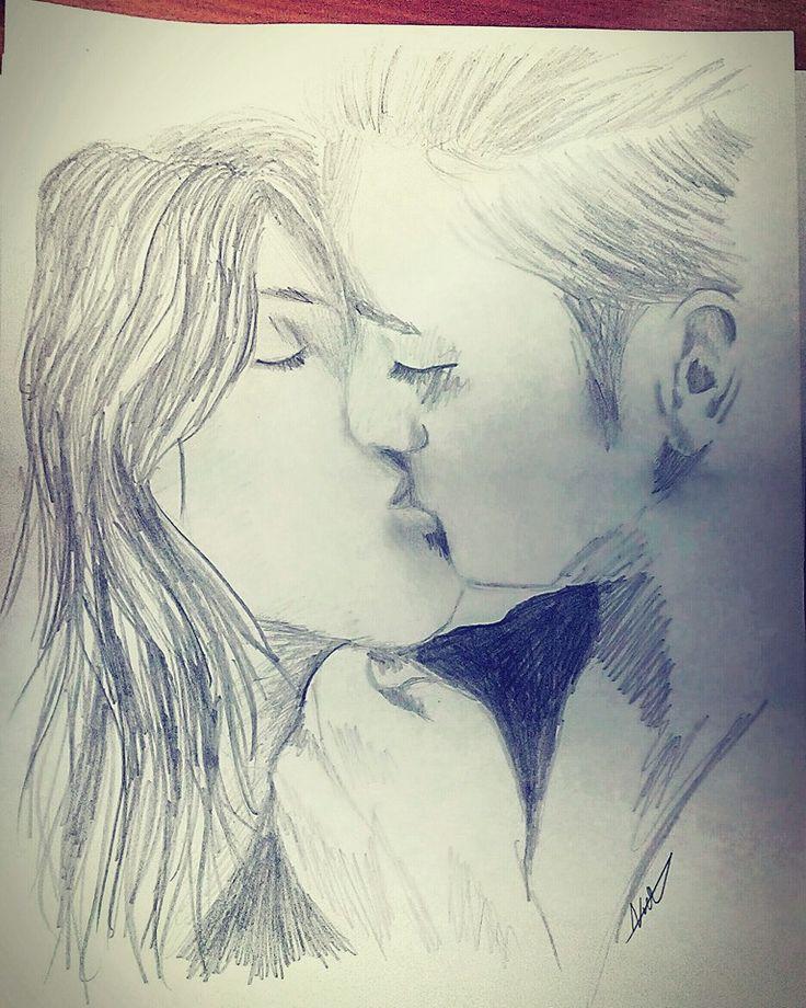 Miss kiss 💋 #drawing #pencil #blackandwhite #kiss #love #couple #heat #passion #woman #man #girl #boy #czech #love #romantic #art #sketches #sketch