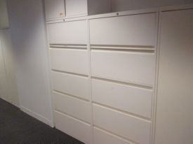 F6091 Steelcase Files With Overfiles Filing Cabinet Filing System Office Storage
