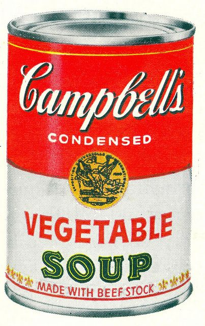 Campbell's Condensed Vegetable Soup - made with beef stock