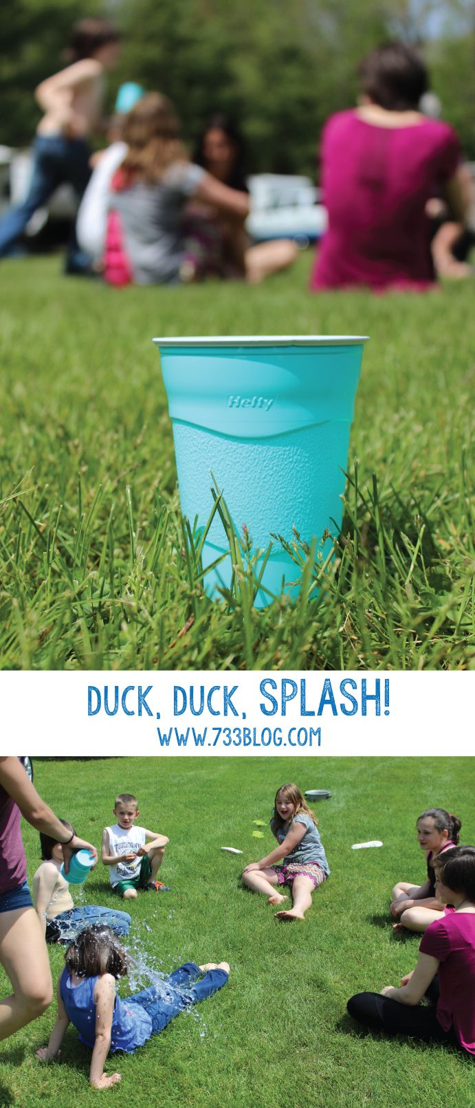 Try this fun take on the classic Duck, Duck, Goose Children's Game! All you need is a cup, some water and some kids ready to get soaked!