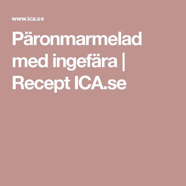 Päronmarmelad med ingefära | Recept ICA.se