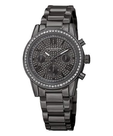 Look what I found on #zulily! Gunmetal Chronograph Watch With Swarovski® Crystals #zulilyfinds