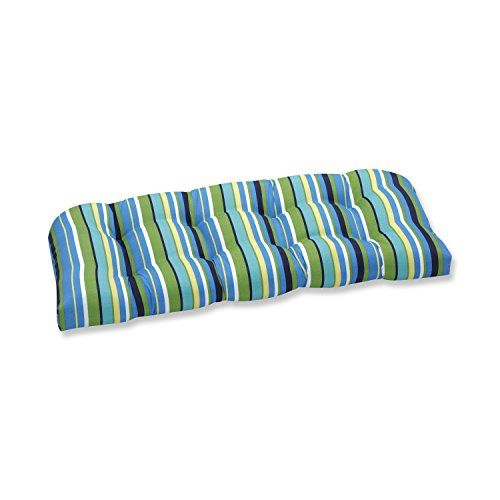 Special Offers - Pillow Perfect Outdoor Topanga Stripe Lagoon Wicker Loveseat Cushion For Sale - In stock & Free Shipping. You can save more money! Check It (January 29 2017 at 08:19AM) >> https://gardenbenchusa.net/pillow-perfect-outdoor-topanga-stripe-lagoon-wicker-loveseat-cushion-for-sale/